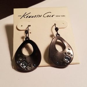 Kenneth Cole Pave Blue Stone earrings